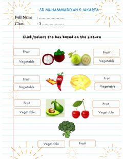 Ficha interactiva Vegetables and Fruits