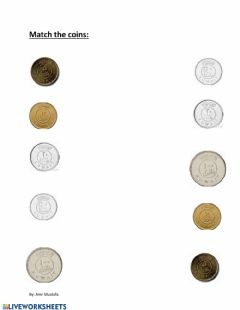 Interactive worksheet Match the coins of Kuwait