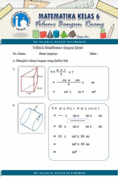 Interactive worksheet Bangun Ruang
