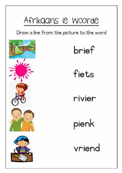 Interactive worksheet Afrikaans ie words worksheet 1