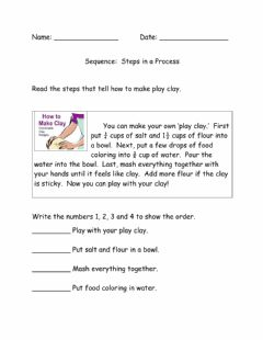 Interactive worksheet Sequence:  Steps in a Process