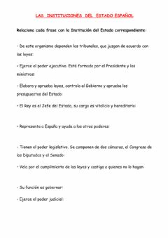 Interactive worksheet Las Instituciones del Estado