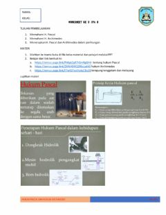 Interactive worksheet H. pascal dan h archimedes