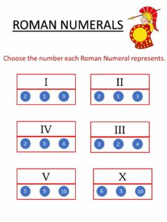 Interactive worksheet Roman numerals 2