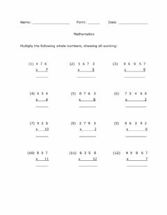 Ficha interactiva Multiplying by 1-Digit Whole Numbers