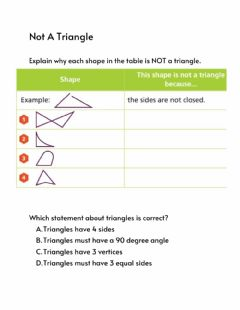 Interactive worksheet Not a triangle