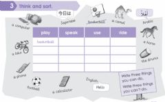 Interactive worksheet Think and sort