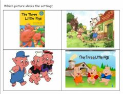 Interactive worksheet Story Elements Three Little Pigs 1