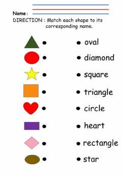 Ficha interactiva Shapes: matching name