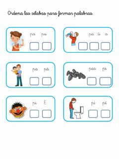 Interactive worksheet Palabras con la P