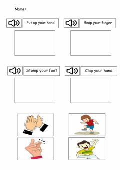 Interactive worksheet Body percussion