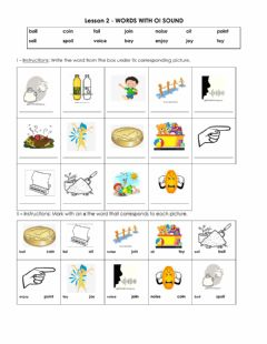 Interactive worksheet Lesson 2 p.1 words with oi-oy