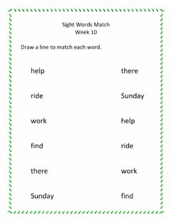 Interactive worksheet Sight Words Week 10