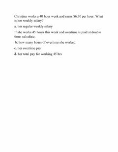 Interactive worksheet Wages