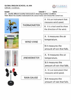Interactive worksheet Westher instruments