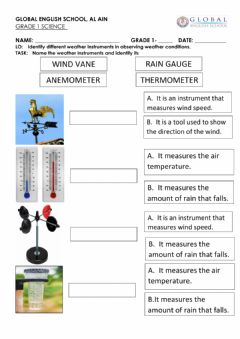 Interactive worksheet Weather instruments