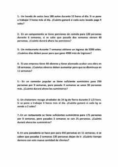 Interactive worksheet Tarea de Regla de 3 Simple