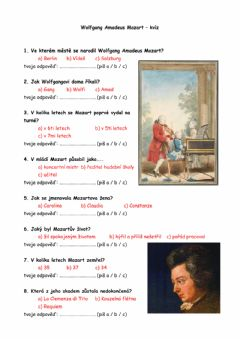 Interactive worksheet W.A.Mozart