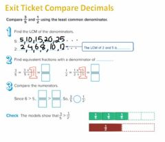 Interactive worksheet G5 Exit Compare Fractions