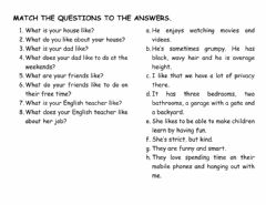 Interactive worksheet Like and to be like
