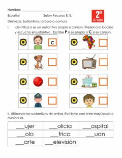 Interactive worksheet Sutantivos
