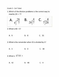 Interactive worksheet Division Review