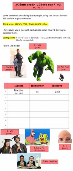 Interactive worksheet Frases con Adjetivos - -3
