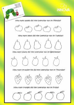 Interactive worksheet The Very Hungry Caterpillar 2