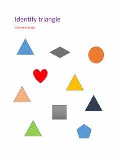 Interactive worksheet Identify triangle