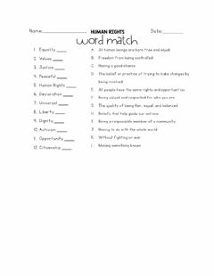 Interactive worksheet Human Rights- Word Match