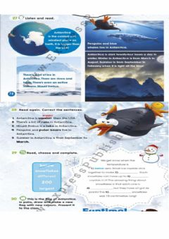 Interactive worksheet Snow and ice