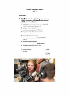 Interactive worksheet Ket listening and reading practice