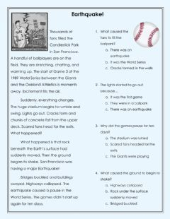 Interactive worksheet Earthquake Cause and Effect