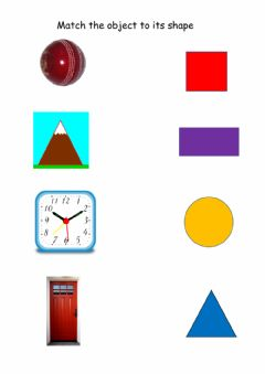 Interactive worksheet Shape and objects