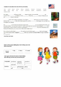 Interactive worksheet Go Getter 3 Get Culture About the USA