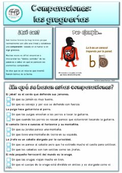 Interactive worksheet Greguerías: comparaciones especiales.