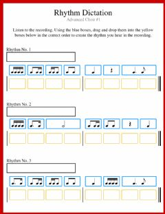 Interactive worksheet Rhythm Dictation AC No.1
