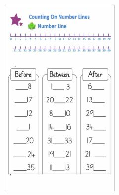 Interactive worksheet Mathematics Numbers Before, After & In Between