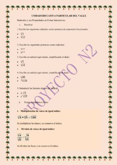 Interactive worksheet Radicales