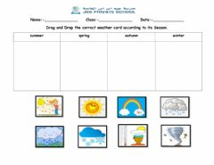 Interactive worksheet Weather cards