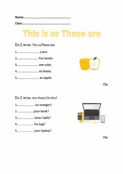 Ficha interactiva This is-These are