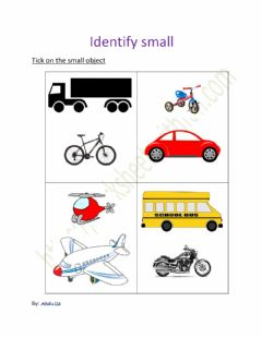 Interactive worksheet Identify small