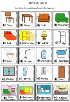 Interactive worksheet My House Worksheets
