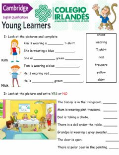 Interactive worksheet January YLE Starters part 2