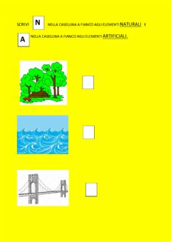 Interactive worksheet Artificiale o naturale