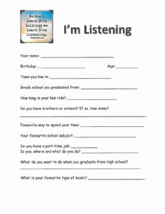 Interactive worksheet I'm Listening