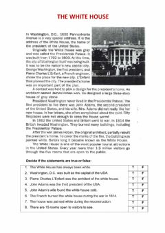 Interactive worksheet The White House