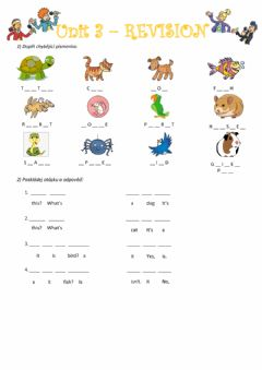 Interactive worksheet Chit Chat 1 Unit 3 revision