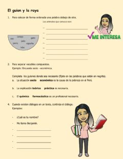 Interactive worksheet Guion y raya