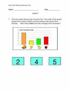 Interactive worksheet March Math( 6-8) 2021 Assessment level 4
